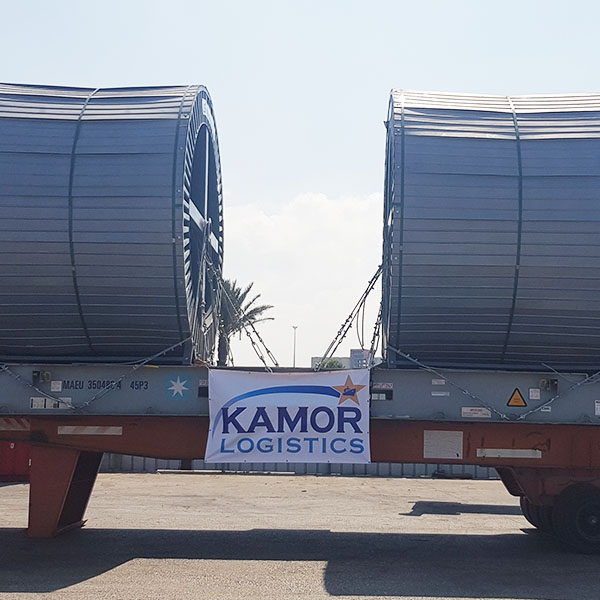 Delivering high voltage cable drums - Kamor Logistics